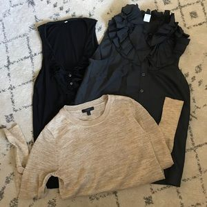 3 J. Crew shirts